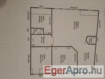 Eger központjában panorámás, 3 szobás lakás azonnali költözéssel kiadó